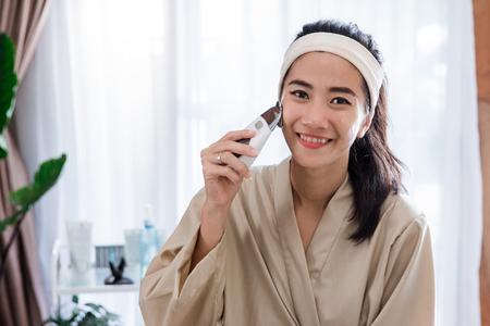 cosmetic galvanic beauty treatment Stock Photo