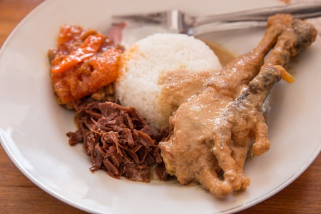traditional indonesian culinary gudeg Stok Fotoğraf