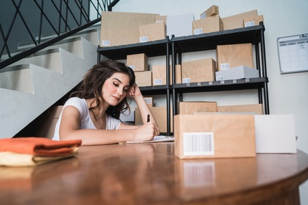 small business entrepreneur at home Stock Photo
