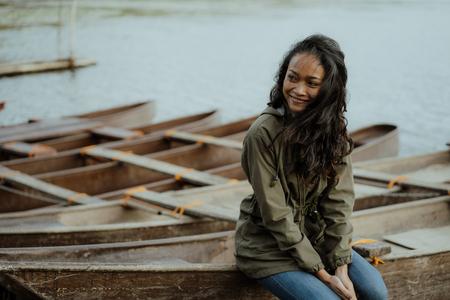 asian woman enjoying her morning in nature