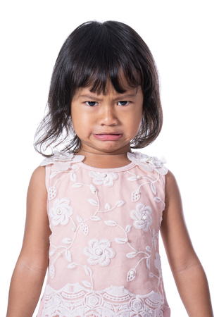 expression of a asian female toddler Imagens