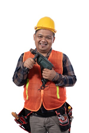 images of smile constructor holding a drill