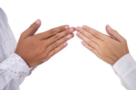 muslim hand finger tip touching greeting