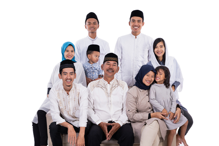 asian muslim family eid mubarak ramadan kareem Stock Photo