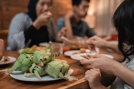 ketupat on dining table