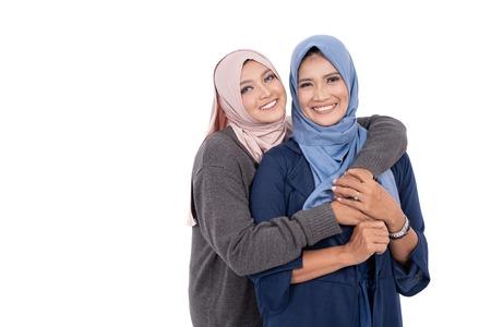 mère et fille musulmane isolées Banque d'images