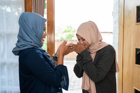 apologizing to her mother during eid mubarak celebration
