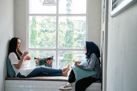 best friends enjoy talking to each other