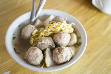 bakso meat ball with soup