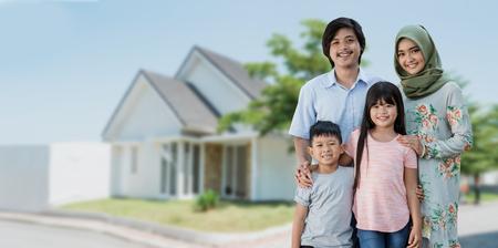 concept de voyage en famille musulmane asiatique
