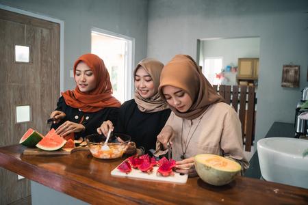 woman preparing food to serve when breaking fast