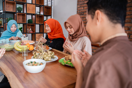 The Hijrah family prayed together before breaking the fast