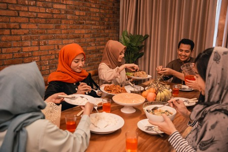 Moments together with family before breaking their fast
