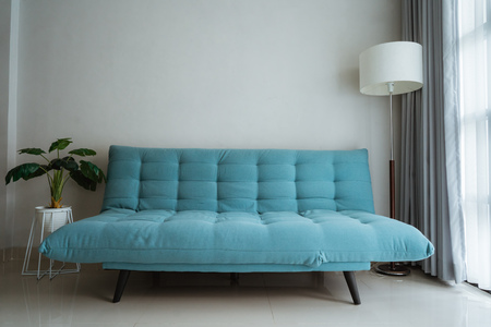 soft color sofa in the room