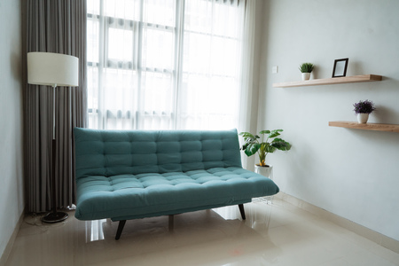 comfortable sofa in the family room