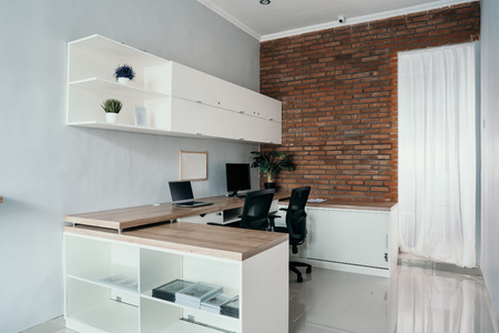 comfortable work space inside the house Stok Fotoğraf