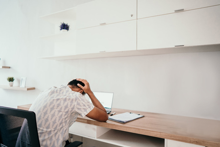 Asian male workers depressed