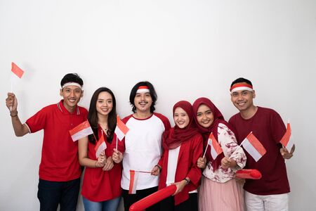 indonesian youth celebrating national independence day