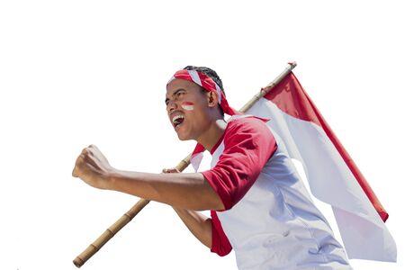 celebración del día de la independencia de indonesia Foto de archivo