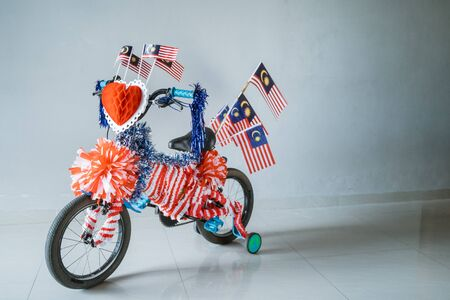 decorated bicycle for malaysia national day. basikal hias Reklamní fotografie