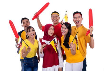 supporter van het nationale team van Brunei Stockfoto