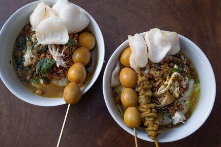 Indonesian food of bubur ayam