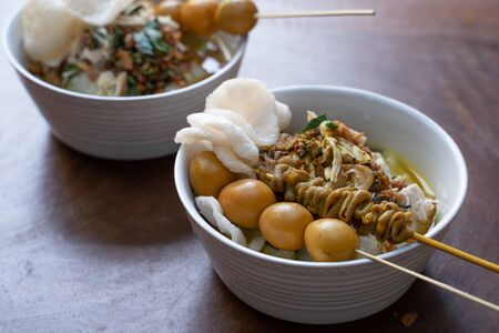 Indonesian food of bubur ayam
