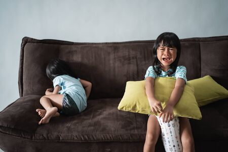 kids fight and cry at home