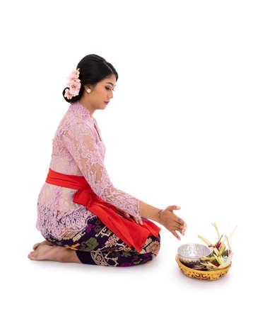 Young Hindu women earnestly pray