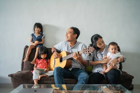 father played the guitar to fill the activities while staying at home