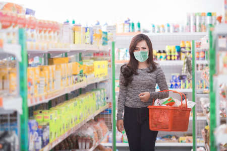 customer shopping at groceries store