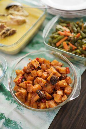 sambal goreng hati . indonesian traditional food during eid mubarak celebration