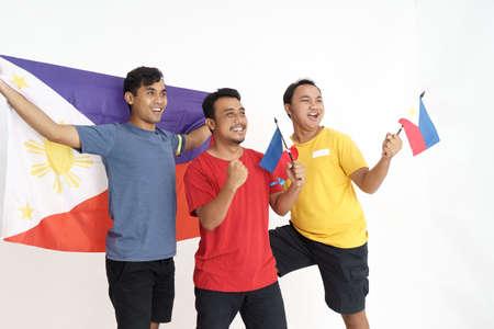 three bestfriend celebrating philippines independence day