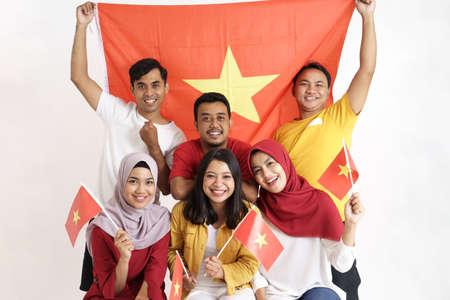 vietnamese people celebrating vietnam national day Stock Photo