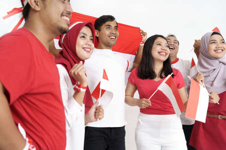 indonesian people during independence day Banque d'images