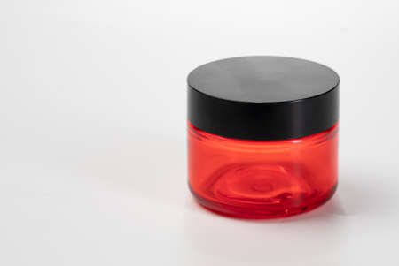 cosmetic container mockup over white background