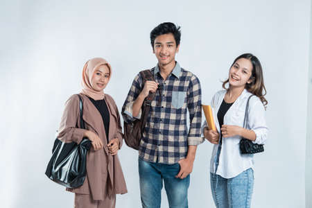 Portrait of Happy College Friends