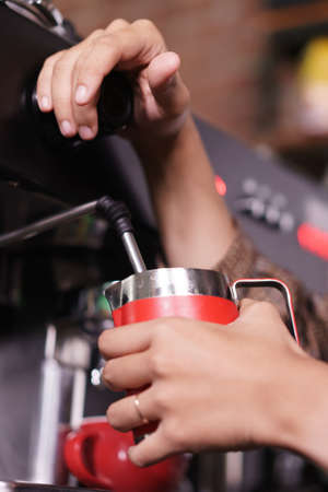 barista process making coffee concept.