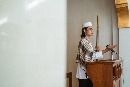 Portrait of muslim male preacher