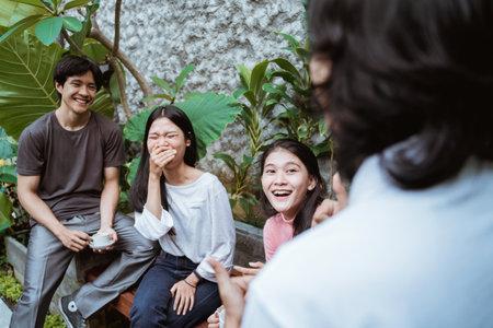 Friends having fun enjoying time together