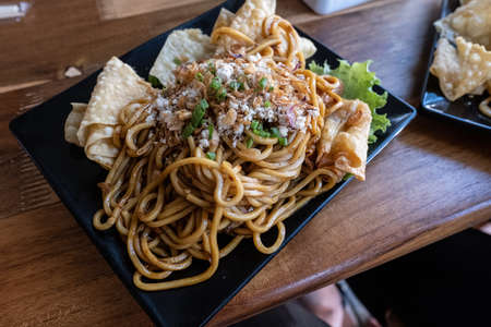 fried noodle culinary of indonesian Stockfoto