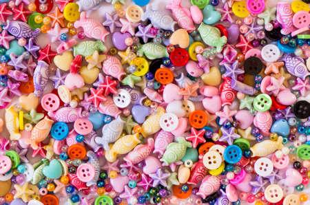 furnish: a colorful bead  cute bead diy  Stock Photo
