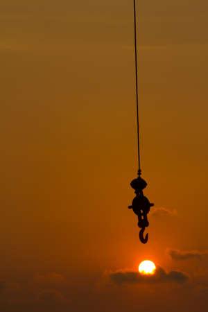 structuring: hooking the sundown Stock Photo