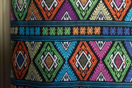 beautiful Thai weave fabric in the norte of Thailand.