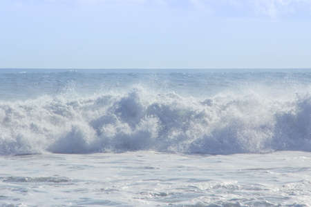The beautiful big wave in bali island.