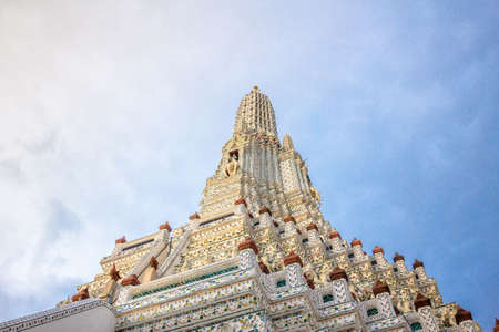 Wat Arun temple. The famous temple in Bangkok ,Thailand. Renovated in 2017.