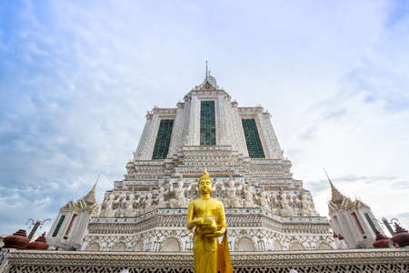 renovated: Wat Arun temple. The famous temple in Bangkok ,Thailand. Renovated in 2017.