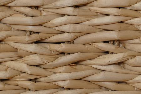 wickerwork: light brown wickerwork from woven banana leaves