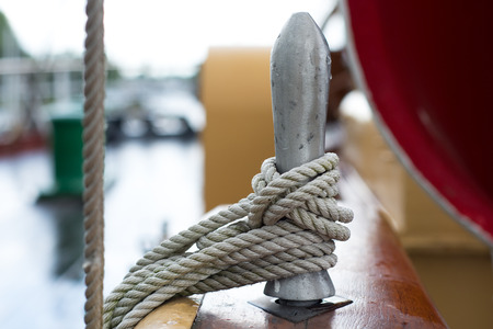 tall ship: rope on an old tall ship