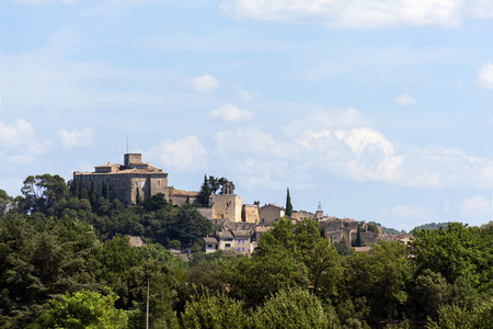 the luberon: Historic castle on the hill, the Chateau of Ansouis is a tourist attraction in the southern region of Provence, region Luberon, France Editorial